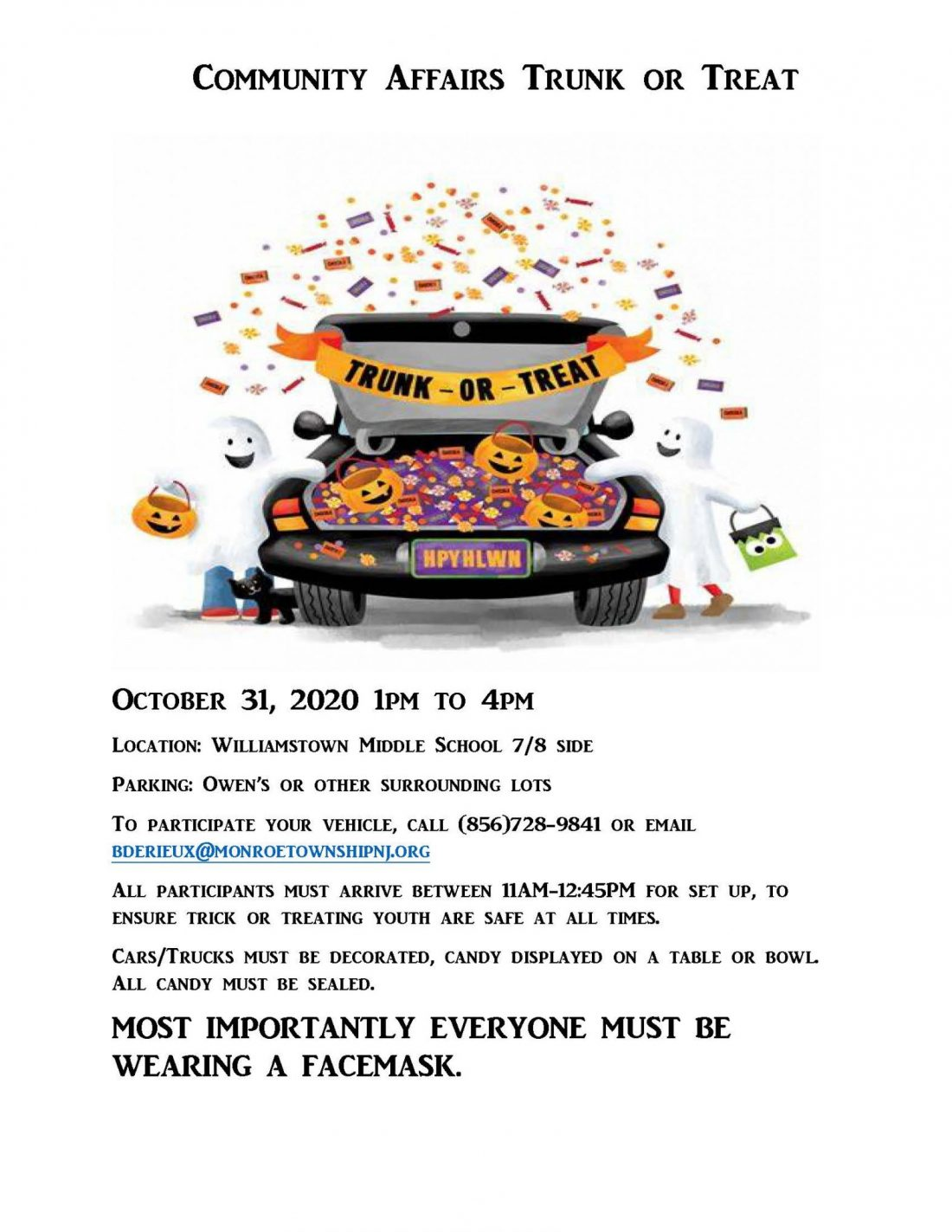 UPDATED Truck or Treat Middle School