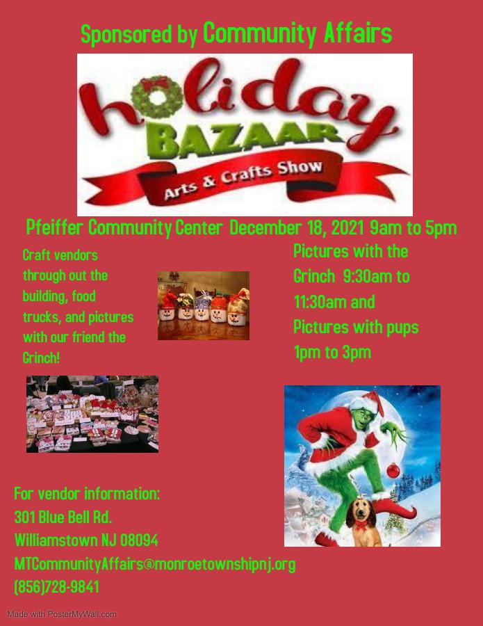 Holiday Bazaar December 18, 2021
